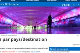 Le site diplomatie.gouv.fr à utiliser sans modération