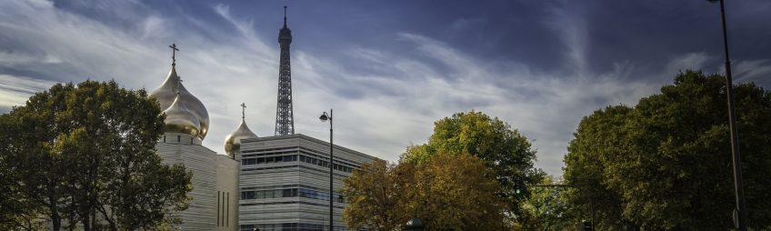 La cathédrale russe orthodoxe de la Sainte-Trinité à Paris